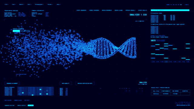 dna analysis software gui - genetic research stock videos & royalty-free footage