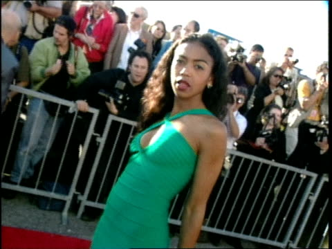 Ananda Lewis on the red carpet at the 1998 MTV Movie Awards