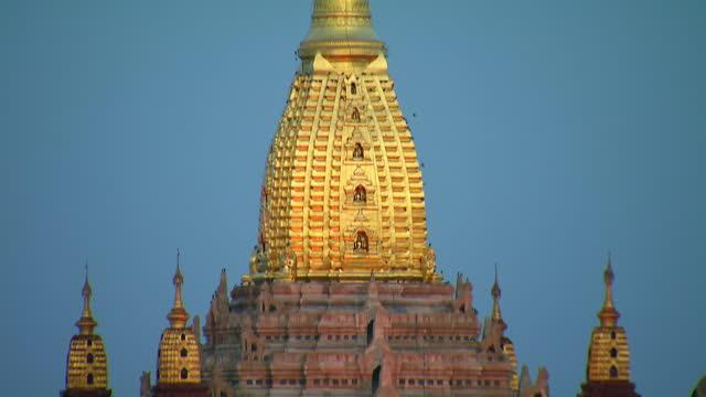 ananda temple in bagan, burma - pagoda stock videos & royalty-free footage