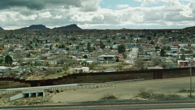anapra and us/mexico border wall near el paso - mexico stock videos & royalty-free footage