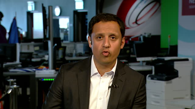 """anas sarwar saying scottish labour will not have a """"divisive"""" manifesto focused on scottish independence - focus concept stock videos & royalty-free footage"""