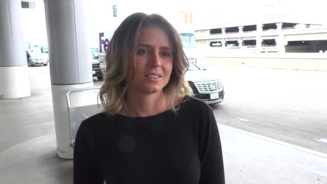INTERVIEW Anastasia Ashley talks about alligator attack in Florida while departing at LAX Airport in Los Angeles in Celebrity Sightings in Los Angeles
