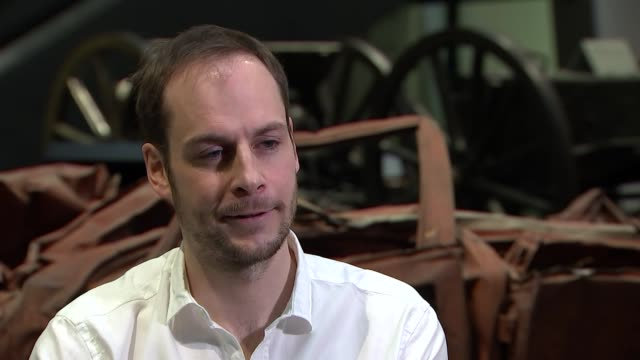 stockvideo's en b-roll-footage met 'anatomy of a soldier' 'harry parker interview england london imperial war museum int harry parker interview on his book sot - imperial war museum museum