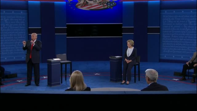cnn anchor anderson cooper and abc news correspondent martha raddatz moderate as democratic party presidential candidate hillary clinton and... - debate stock videos & royalty-free footage