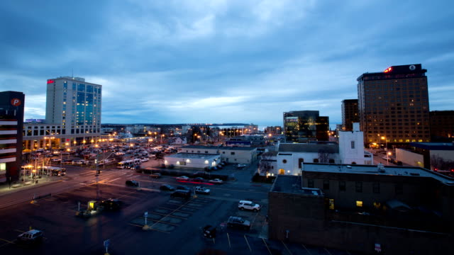 anchorage alaska day to night timelapse - anchorage alaska stock videos & royalty-free footage