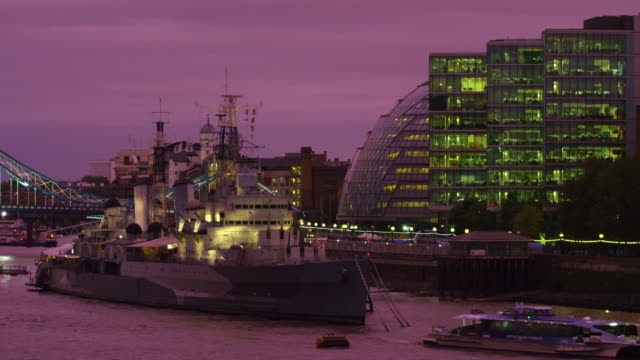 anchored by the city hall in london - anchored stock videos & royalty-free footage