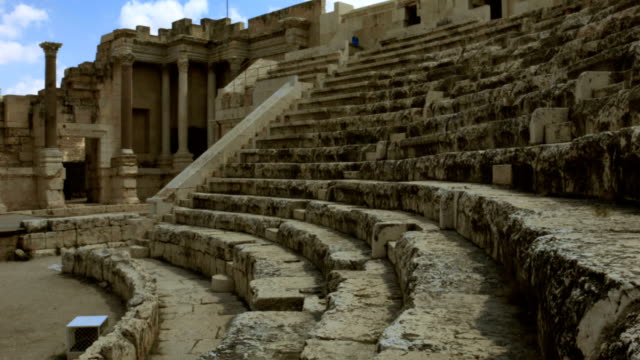 vídeos de stock, filmes e b-roll de anfiteatro antigo - israel
