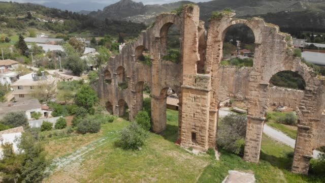 ancient aqueduct in antalya, turkey - aqueduct stock videos and b-roll footage