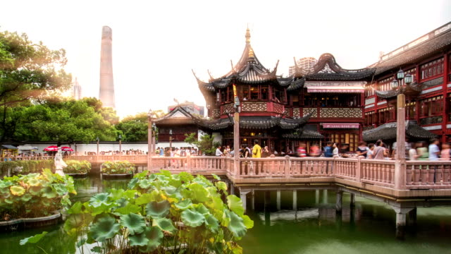ancient architecture in shanghai, china - shanghai stock videos & royalty-free footage