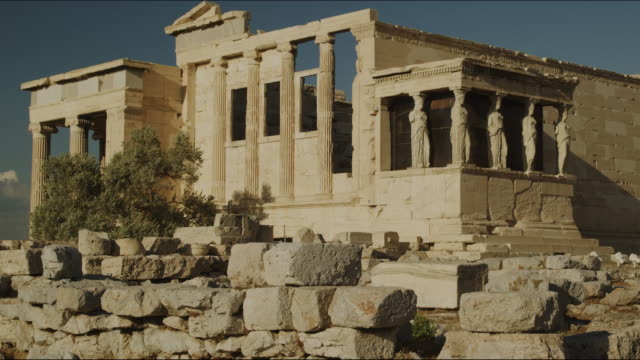 ancient architecture - the erechtheion stock videos & royalty-free footage