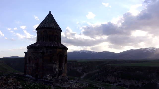 ancient armenian cathedral - eastern european culture stock videos & royalty-free footage