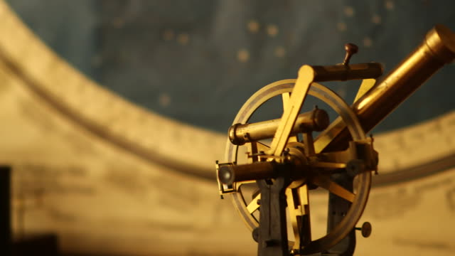 ancient astronomical equipment - arte dell'antichità video stock e b–roll
