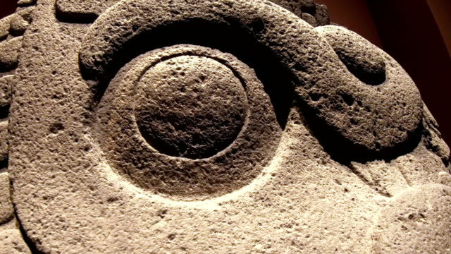 ancient aztec stone of the sun - mayan stock videos & royalty-free footage