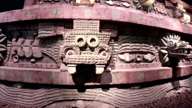 ancient aztec stone - aztec stock videos & royalty-free footage