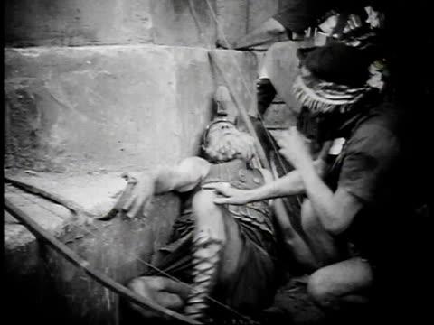 1923 reenactment ancient babylonian battle scene - 1923 stock videos & royalty-free footage