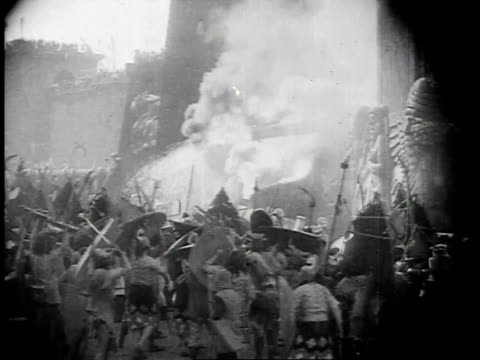 1923 reenactment ancient babylonian battle scene - 1923 stock videos & royalty-free footage