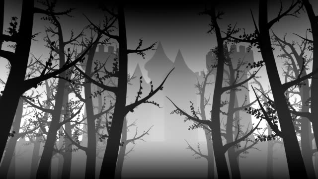 Ancient Castle and Forest Animation