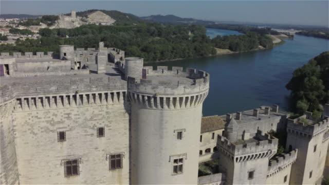 ancient castle tarascon - provence alpes cote d'azur stock videos & royalty-free footage
