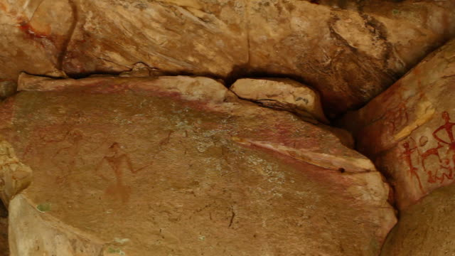 ancient cave drawing - prehistoric era stock videos & royalty-free footage