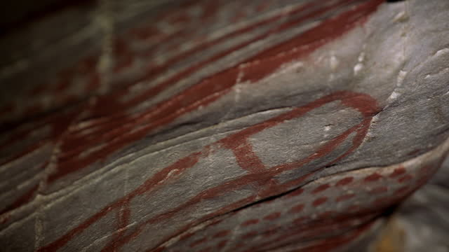 ancient cave paintings produced with ochre, spain - horse family stock videos & royalty-free footage