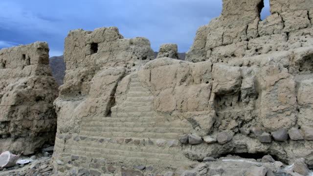 ancient city site, tashkurgan, kashgar, xinjiang, china - stone material stock videos & royalty-free footage