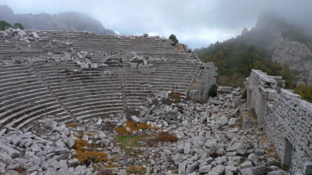 ancient city termessos at turkey - famous place stock videos & royalty-free footage