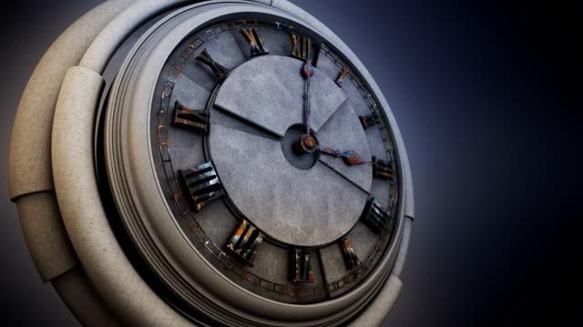 ancient clock - romersk siffra bildbanksvideor och videomaterial från bakom kulisserna