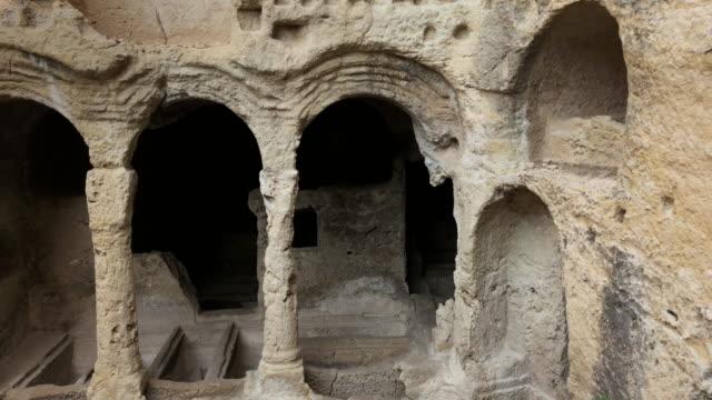 ancient cradle (besikli) cave, samandagi, hatay, turkey - hatay stock videos & royalty-free footage