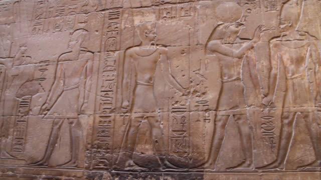 ancient egyptian hieroglyphics, pan - hieroglyph stock videos & royalty-free footage