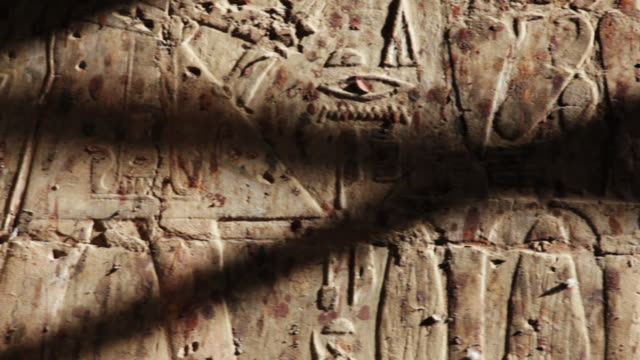 ancient egyptian hieroglyphics pan - temples of karnak stock videos and b-roll footage