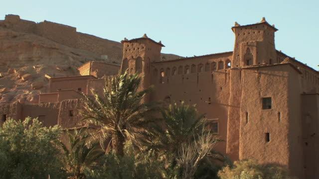 ws zo ancient fortified city along former caravan routes from sahara and world heritage site, souss massa draa, morocco - adobe bildbanksvideor och videomaterial från bakom kulisserna