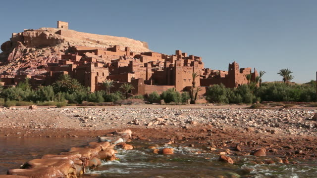 Ancient fortress near Tirza river, Ait-Ben-Haddou, Morocco