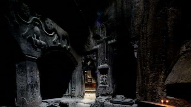Ancient Geghard Monastery in Armenia