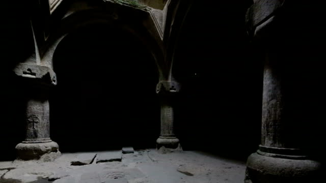 ancient geghard monastery in armenia - 4th century bc stock videos and b-roll footage
