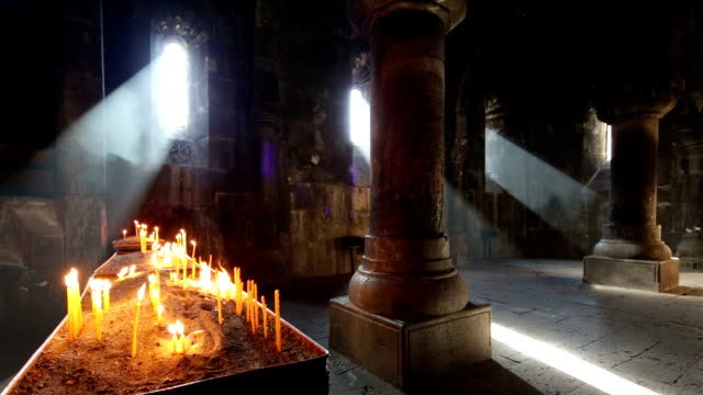 ancient geghard monastery in armenia - monastery stock videos & royalty-free footage
