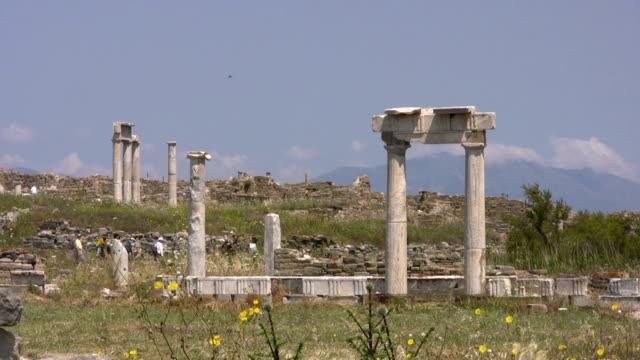 ancient greek columns on delos, greece - greek mythology stock videos and b-roll footage