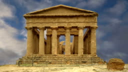 Ancient Greek temple of Concordia (V-VI century BC), Valley of the Temples, Agrigento, Sicily. The area was included in the UNESCO Heritage Site list in 1997