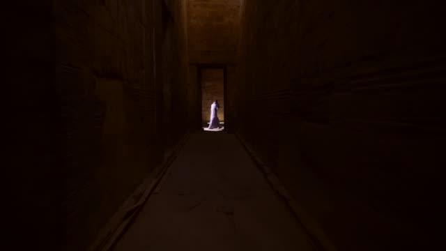 vidéos et rushes de hiéroglyphics ancien du temple d'edfu à edfu, egypte - archéologie