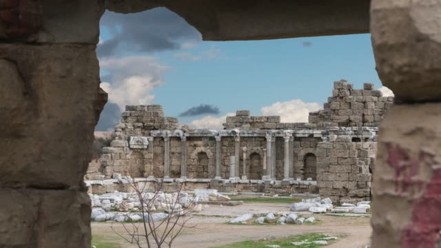ancient history ,ancient city side turkey - mediterranean turkey stock videos and b-roll footage