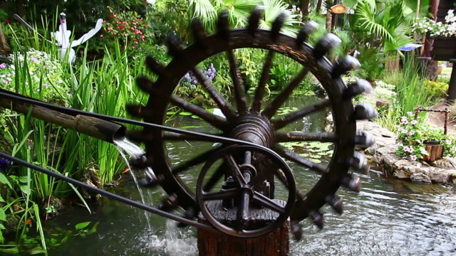 ancient hydro turbine generator - water wheel stock videos and b-roll footage