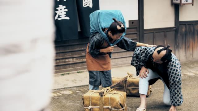 ws 古代日本人の商人 - istockalypse点の映像素材/bロール