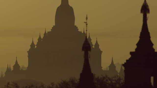 Ancient Myanmar temple at sunrise