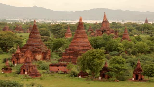 ancient pagodas in bagan mandalay, myanmar - bagan stock videos & royalty-free footage