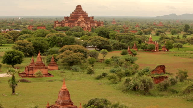 ancient pagodas in bagan mandalay, myanmar - myanmar stock videos and b-roll footage