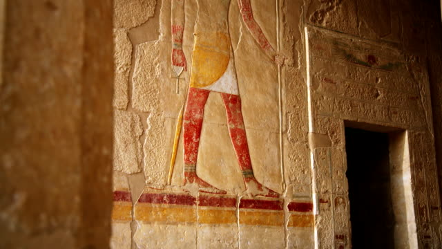 Ancient Relief of Anubis from Hatshepsut's Temple Egypt