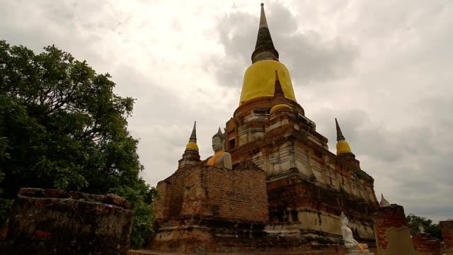 タイ アユタヤの遺跡。 - ワットチャイワタナラム点の映像素材/bロール