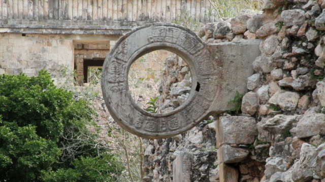 CU Ancient ring through which football should be thrown  / Uxmal, Yucatan, Mexico