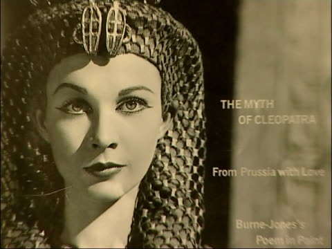 harriet walter interview and preparing for role as cleopatra poster of cleopatra on wall of dressing room / walter having wig put on and applying... - cleopatra stock videos & royalty-free footage
