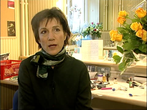 harriet walter interview and preparing for role as cleopatra england london novello theatre int harriet walter interview sot talks of knowing that... - cleopatra stock videos & royalty-free footage