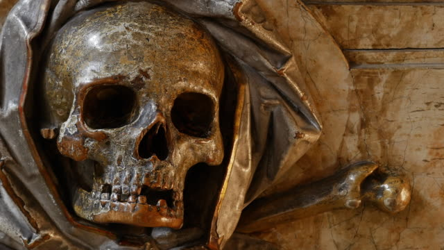 ancient scull sculpture - 18th century style stock videos and b-roll footage